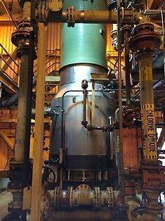 2014-06 Absorptionstorn för ClO2. Ny pumptank och sektion Nr 1, installerade i slutkundens fabrik i USA.