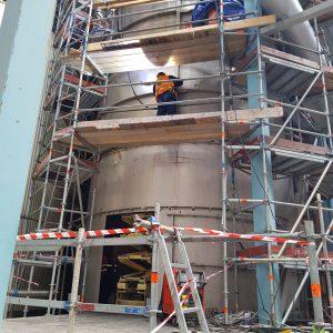 2018-03 C-kondensat cistern |Montage- & projekt samordning vid ombyggnation av C-kondensat cistern